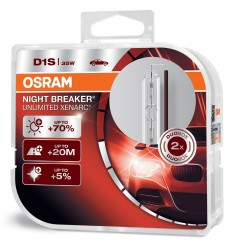OSRAM XENARC NIGHT BREAKER UNLIMITED D1S 66140XNB-HCB +70%