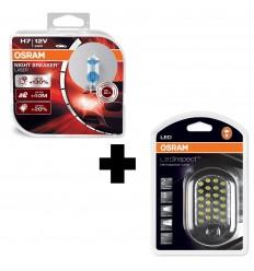 OSRAM NIGHT BREAKER LASER H7 +130% 2KS/BALENIE + OSRAM LED IL202 INSPECTION LAMP