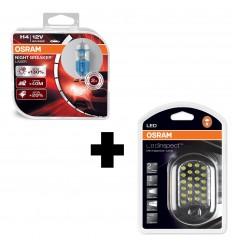OSRAM NIGHT BREAKER LASER H4 +130% BOX 2KS + OSRAM LED IL302 INSPECTION LAMP
