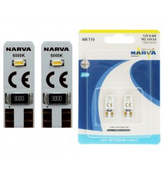 Narva WB T10 LED W5W 12V 0,6W 6000K - 2ks