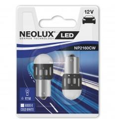 Neolux LED 12V 1,2W BA15S NP2160 duoblister 6000K jasná biela