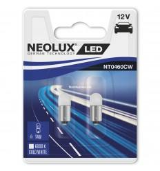 Neolux LED 12V 0,5W BA9S T4W NT0460 duoblister 6000K jasná biela