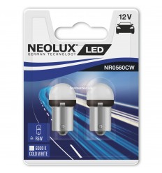 Neolux LED 12V 0,8W BA15S NR0560CW duoblister 6000K jasná biela