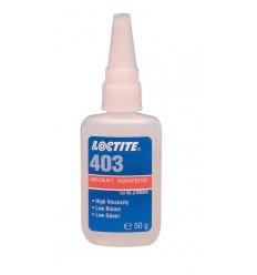 Loctite 403 50g - sekundové lepidlo, nízky zápach, nízky zákal