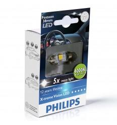 Philips X-treme Vision 128584000KX1 C5W LED 4000K 120° 38mm - 1ks