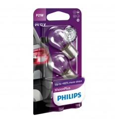 Philips 12498VPB2 12V P21W BA15s VisionPlus blister - 2ks