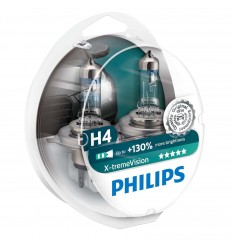 Philips 12V H4 60/55W P43T X-treme Vision +130% Box