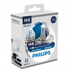 Philips H4 12V 60/55W P43T+W5W WhiteVision ultra-set 2ks