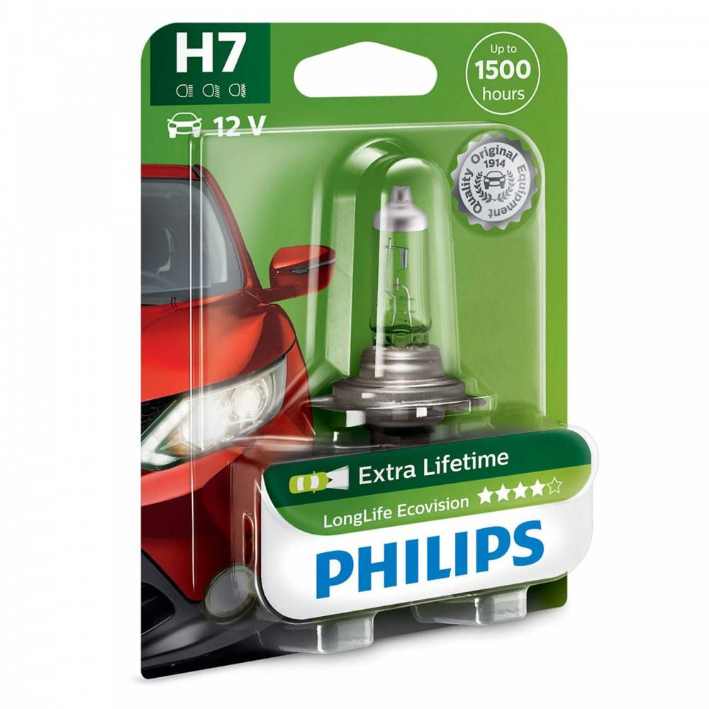 philips h7 12v 55w longlife ecovision blister 1ks. Black Bedroom Furniture Sets. Home Design Ideas