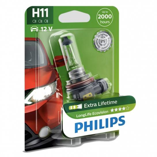 žiarovka H11 12V 55W PGJ19-2 LongLife Philips