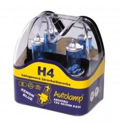 Žiarovka AUTOLAMP H4 12V 60/55W XENON BLUE 2ks/balenie