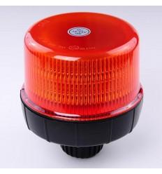 maják LED na tyč 12V-24V oranžový 12 LED*3W