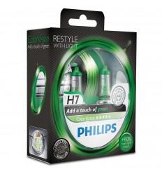 Philips ColorVision Zelená H7 12V 55W 12972CVPGS2 - 2ks/balenie