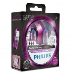 Philips ColorVision Fialová H4 12V 60/55W 12342CVPPS2 - 2ks/balenie