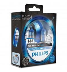 Philips ColorVision Modrá H4 12V 60/55W 12342CVBPS2 - 2ks/balenie