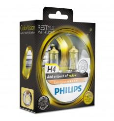 Philips ColorVision Fialová H4 12V 60/55W 12342CVPYS2 - 2ks/balenie