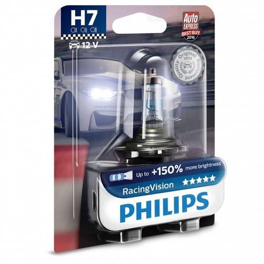 philips racing vision 12v h7 55w 150 svetla 1 ks. Black Bedroom Furniture Sets. Home Design Ideas