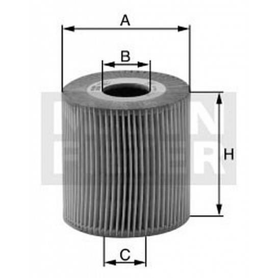 filter olejový mann HU 615/3x - HU 615/2x
