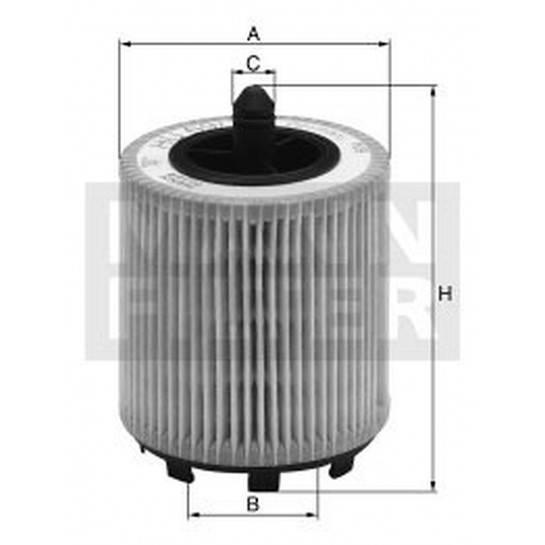 filter olejový mann HU 69 2 - HU69 2x