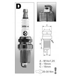 BRISK zapaľovacia sviečka DR17YC-1 (1364) Super