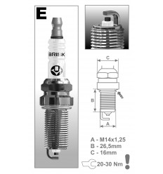 BRISK zapaľovacia sviečka ER17YC-9 (1863) Super