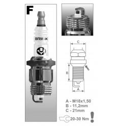 BRISK zapaľovacia sviečka FR15YC (1367) Super