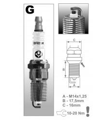 BRISK zapaľovacia sviečka G17YC (1368) Super