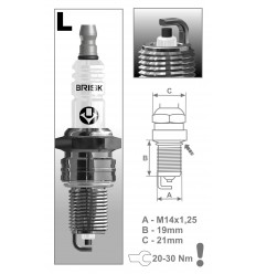 BRISK zapaľovacia sviečka L15YC (1313) Super