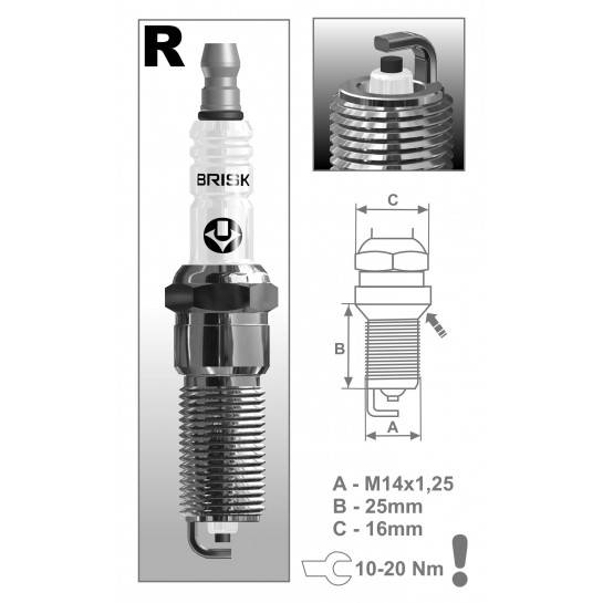 BRISK sviečka RR15YC-1