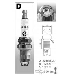 BRISK zapaľovacia sviečka DR17LDC-1 (1375)