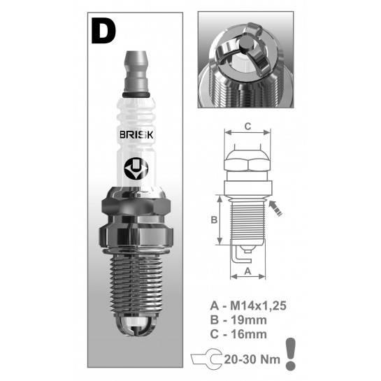 BRISK sviečka DX15LTC-1