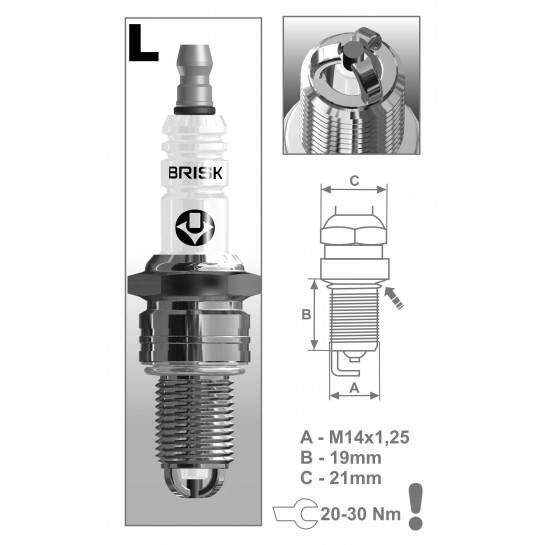 BRISK sviečka LR15TC-1