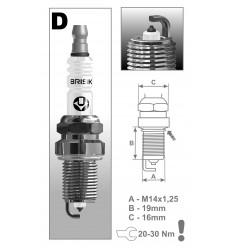 BRISK zapaľovacia sviečka DR15YP-1 (1401)