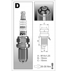 BRISK zapaľovacia sviečka Premium EVO DR15SXC (1898)