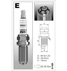 BRISK zapaľovacia sviečka Premium EVO ER15SXC (1901)