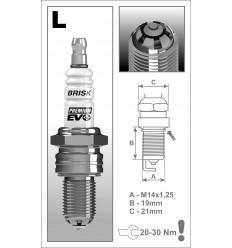 BRISK zapaľovacia sviečka Premium EVO LR15SXC (1902)