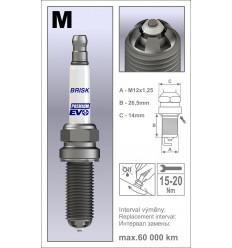 BRISK zapaľovacia sviečka Premium EVO MR14BFXC (1970)