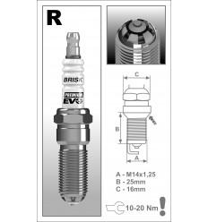 BRISK zapaľovacia sviečka Premium EVO RR15SXC (1900)