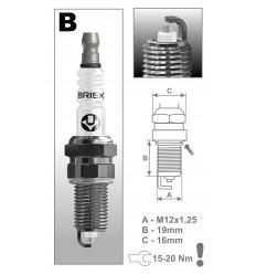 BRISK zapaľovacia sviečka BR12YS-9 Silver (1956)