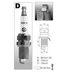 BRISK zapaľovacia sviečka DR17YS-9 Silver (1463)