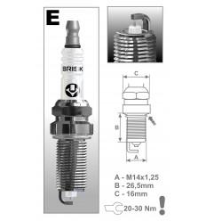 BRISK zapaľovacia sviečka ER15YS-9 Silver (1578)