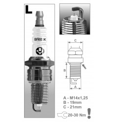 BRISK zapaľovacia sviečka LR15YS-9 Silver (1464)