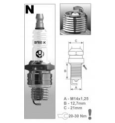 BRISK zapaľovacia sviečka NR15S Silver (1354)