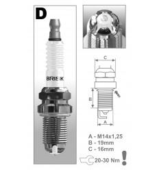 BRISK zapaľovacia sviečka DOR14LGS Premium (3025)