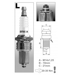 BRISK zapaľovacia sviečka LR15ZC Premium (1129)