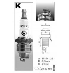 BRISK zapaľovacia sviečka K17C (1433) Super