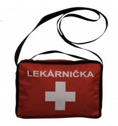 Lekárnička v textilnom obale na školské výlety a voľný čas - Štandard ( E ) - červená