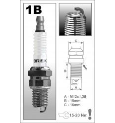 BRISK zapaľovacia sviečka 1BR12S Silver