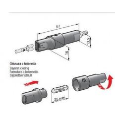 Držiak valcovej poistky s konektorovými spojmi