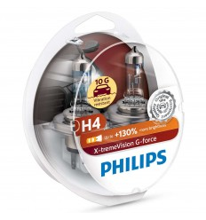 Philips X-treme Vision G-force +130% 10G H4 12V 55/60W